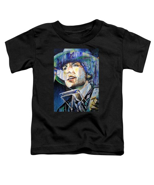 Bob Dylan Tangled Up In Blue Toddler T-Shirt by Joshua Morton