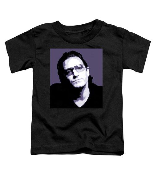 Bono Portrait Toddler T-Shirt by Dan Sproul