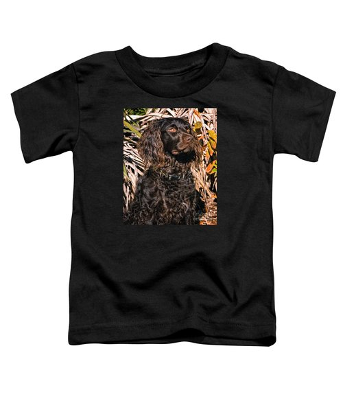 Boykin Spaniel Portrait Toddler T-Shirt by Timothy Flanigan