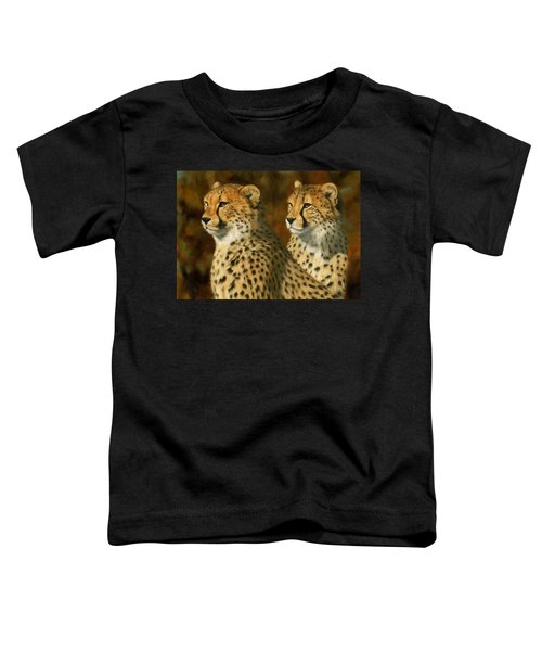Cheetah Brothers Toddler T-Shirt by David Stribbling