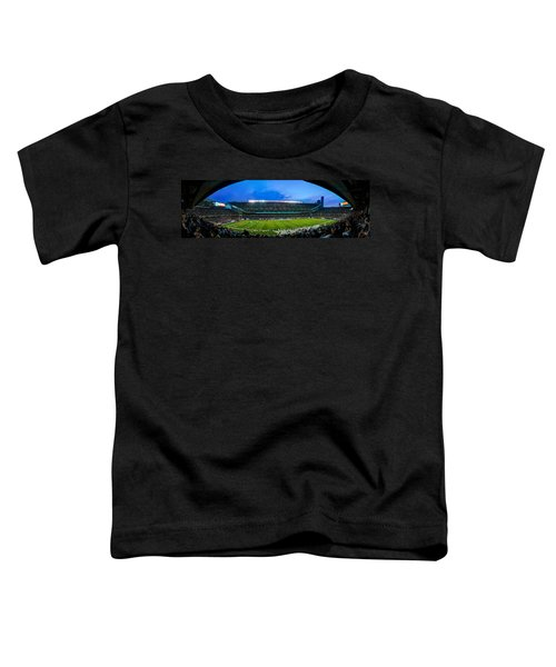 Chicago Bears At Soldier Field Toddler T-Shirt by Steve Gadomski