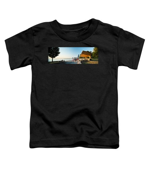 Chicago Lakefront Panorama Toddler T-Shirt by Steve Gadomski