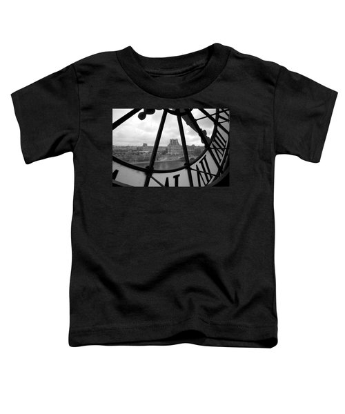 Clock At Musee D'orsay Toddler T-Shirt by Chevy Fleet