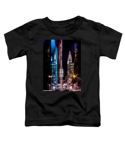 Color Of Manhattan Toddler T-Shirt by Az Jackson