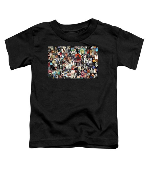 David Bowie Collage Toddler T-Shirt by Taylan Apukovska