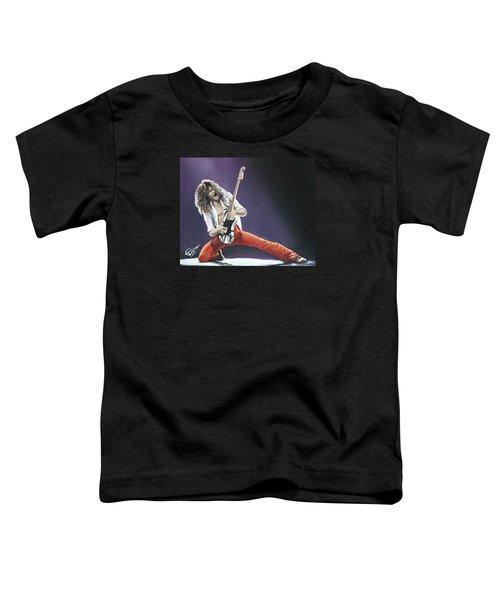Eddie Van Halen Toddler T-Shirt by Tom Carlton