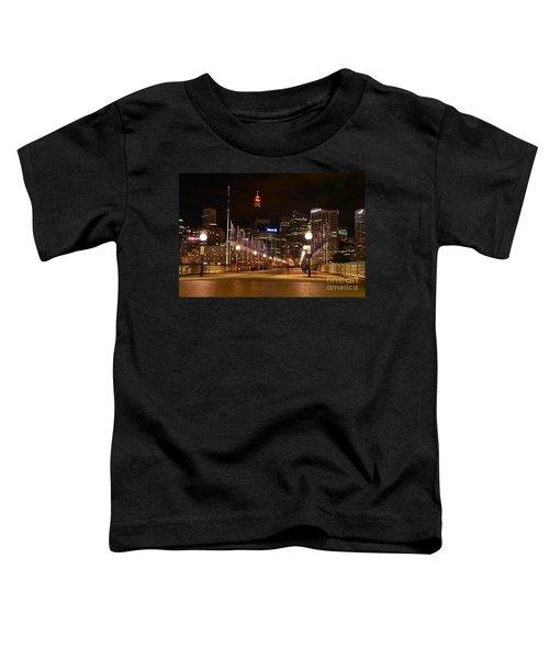 Foot Bridge By Night Toddler T-Shirt by Kaye Menner