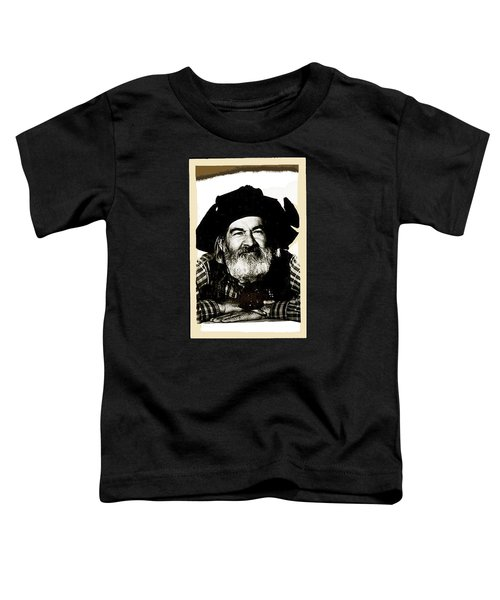 George Hayes Portrait #1 Card Toddler T-Shirt by David Lee Guss