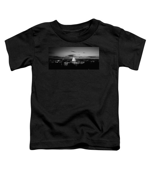 Government Building Lit Up At Night, Us Toddler T-Shirt by Panoramic Images