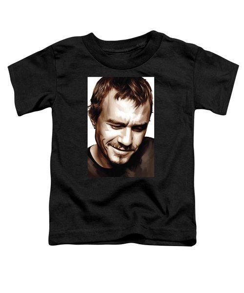 Heath Ledger Artwork Toddler T-Shirt by Sheraz A