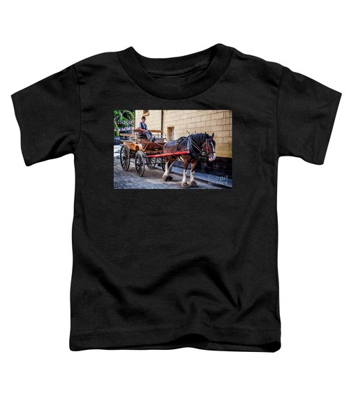 Horse And Cart Toddler T-Shirt by Adrian Evans