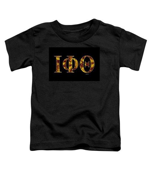 Iota Phi Theta - Black Toddler T-Shirt by Stephen Younts