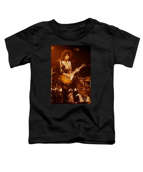 Jimmy Page 1975 Toddler T-Shirt by David Plastik