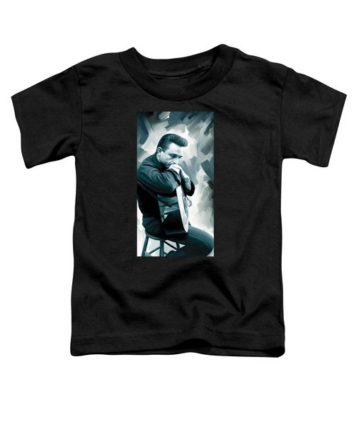 Johnny Cash Artwork 3 Toddler T-Shirt by Sheraz A