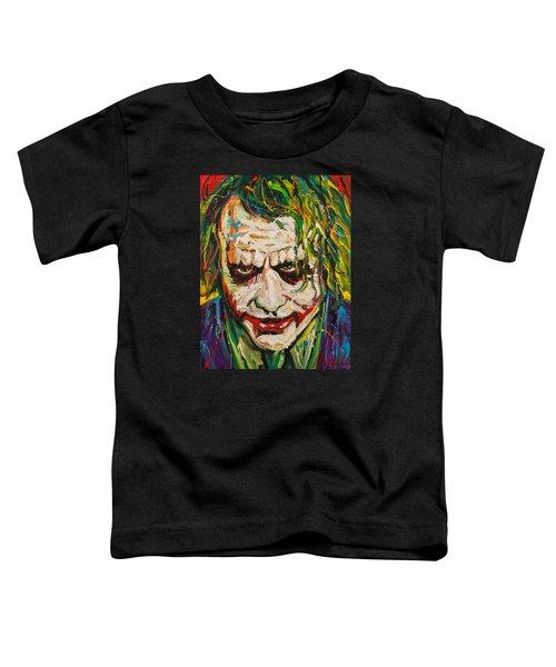 Joker Toddler T-Shirt by Michael Wardle