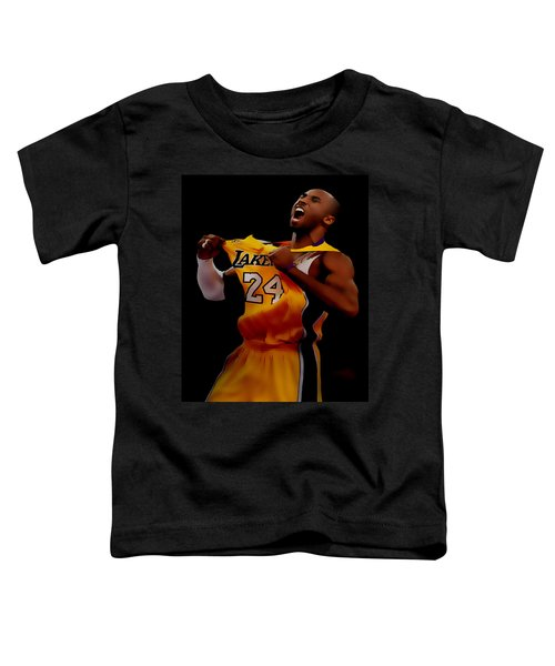 Kobe Bryant Sweet Victory Toddler T-Shirt by Brian Reaves