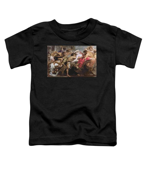 Lapiths And Centaurs Oil On Canvas Toddler T-Shirt by Peter Paul Rubens