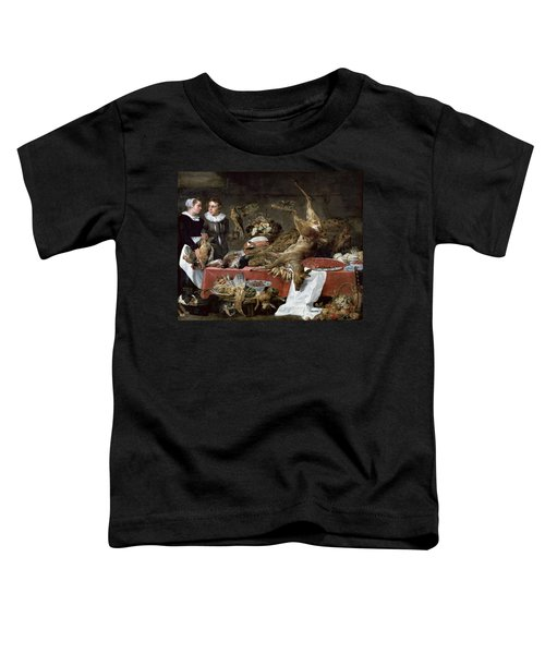 Le Cellier Oil On Canvas Toddler T-Shirt by Frans Snyders or Snijders
