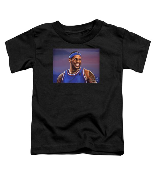 Lebron James  Toddler T-Shirt by Paul Meijering