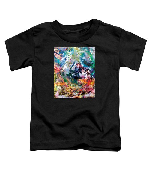 Led Zeppelin Original Painting Print  Toddler T-Shirt by Ryan Rock Artist