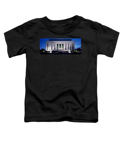 Lincoln Memorial At Dusk, Washington Toddler T-Shirt by Panoramic Images