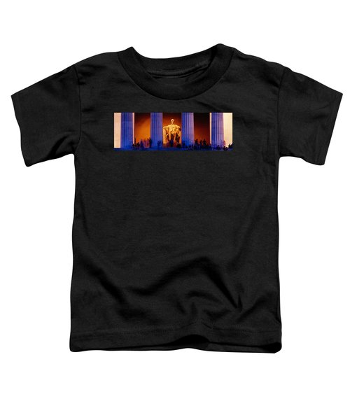 Lincoln Memorial, Washington Dc Toddler T-Shirt by Panoramic Images