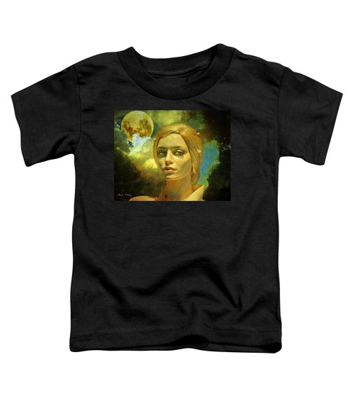 Luna In The Garden Of Evil Toddler T-Shirt by Chuck Staley