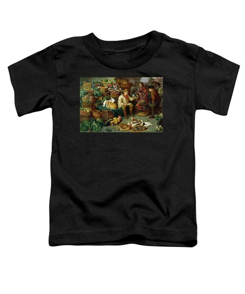 Market Scene Toddler T-Shirt by Henry Charles Bryant