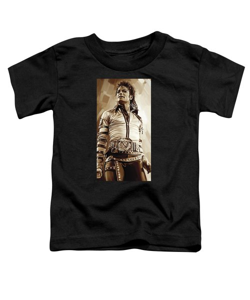 Michael Jackson Artwork 2 Toddler T-Shirt by Sheraz A