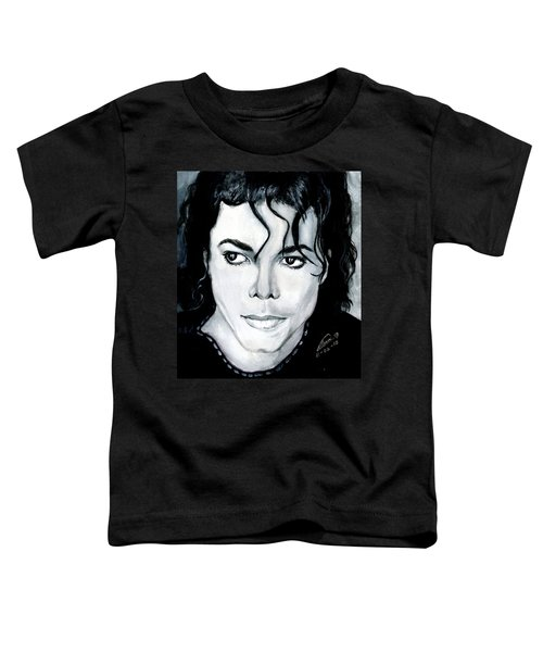Michael Jackson Portrait Toddler T-Shirt by Alban Dizdari