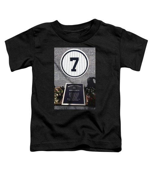 Mickey Mantle Toddler T-Shirt by Allen Beatty