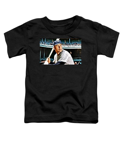 Mickey Mantle Toddler T-Shirt by Florian Rodarte