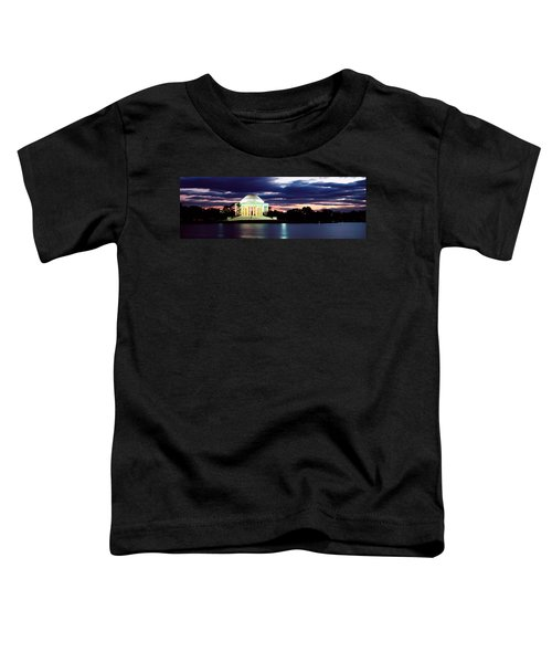 Monument Lit Up At Dusk, Jefferson Toddler T-Shirt by Panoramic Images