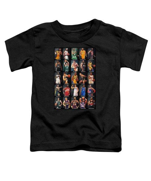 Nba Legends Toddler T-Shirt by Taylan Apukovska