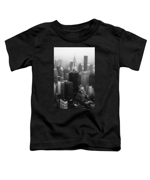 New York City - Fog And The Chrysler Building Toddler T-Shirt by Vivienne Gucwa