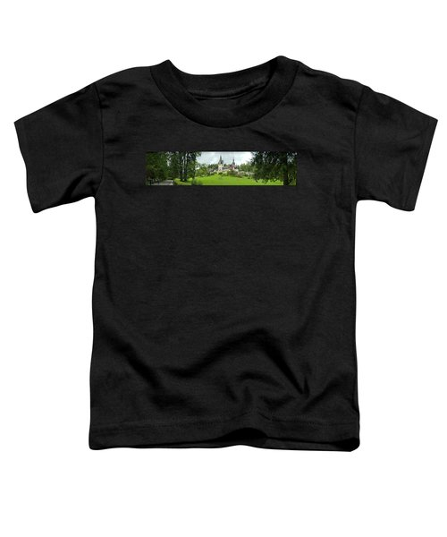 Peles Castle In The Carpathian Toddler T-Shirt by Panoramic Images