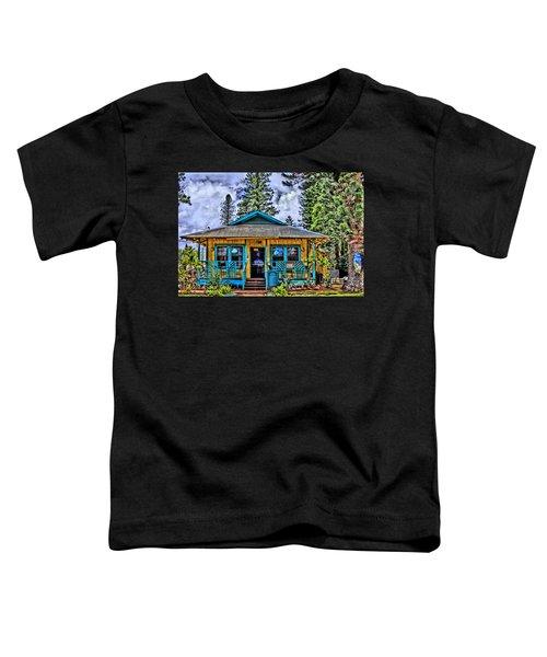Pele's Lanai Island Hawaii Toddler T-Shirt by DJ Florek