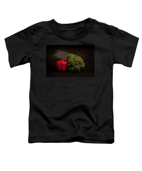 Pepper Nd Brocoli Toddler T-Shirt by Peter Tellone