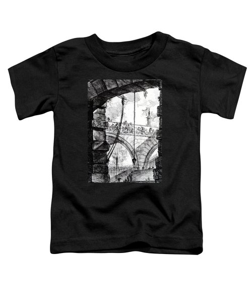 Plate 4 From The Carceri Series Toddler T-Shirt by Giovanni Battista Piranesi