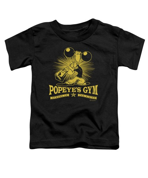 Popeye - Popeyes Gym Toddler T-Shirt by Brand A