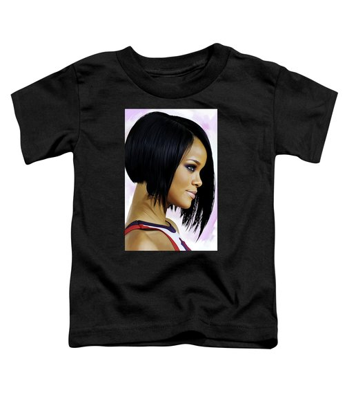 Rihanna Artwork Toddler T-Shirt by Sheraz A