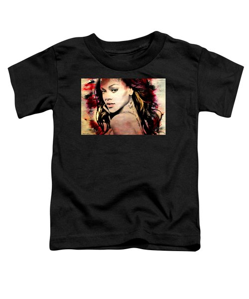 Rihanna Toddler T-Shirt by Mark Ashkenazi