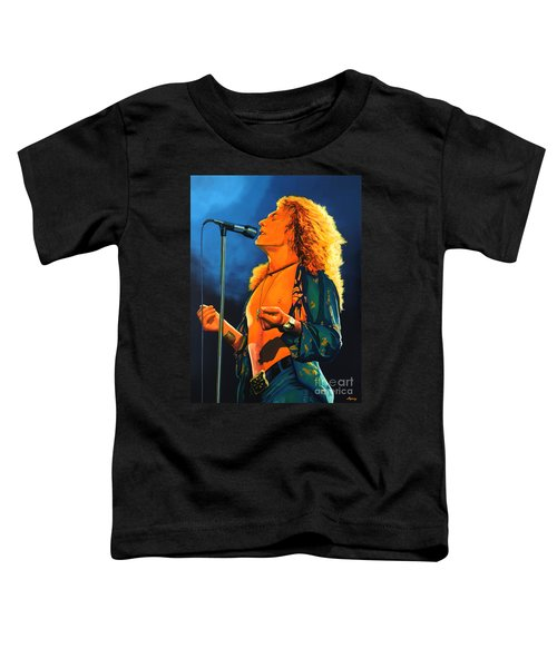 Robert Plant Toddler T-Shirt by Paul Meijering