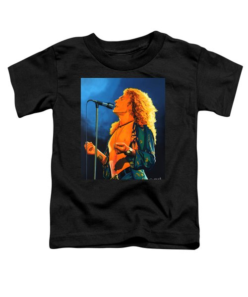 Robert Plant Toddler T-Shirt by Paul Meijering