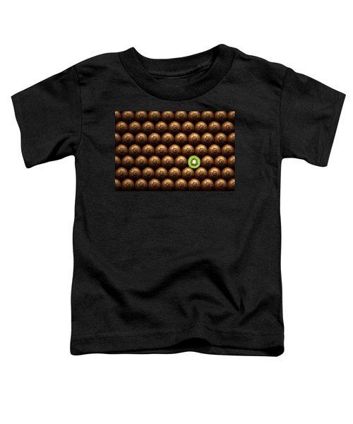 Sliced Kiwi Between Group Toddler T-Shirt by Johan Swanepoel