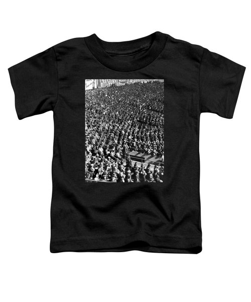 Baseball Fans At Yankee Stadium In New York   Toddler T-Shirt by Underwood Archives
