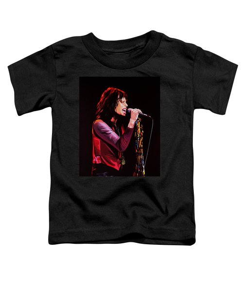 Steven Tyler In Aerosmith Toddler T-Shirt by Paul Meijering