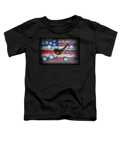 The All American Golfer Toddler T-Shirt by Paul Ward