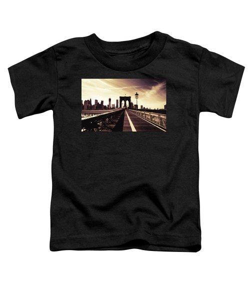 The Brooklyn Bridge - New York City Toddler T-Shirt by Vivienne Gucwa