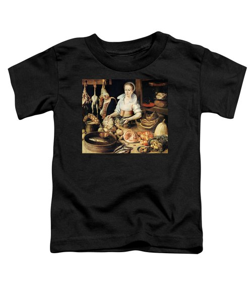 The Cook Toddler T-Shirt by Pieter Cornelisz van Rijck